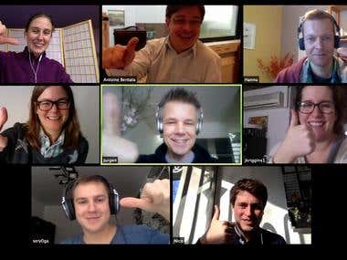 Video conferencing website and mobile app :: clone skype