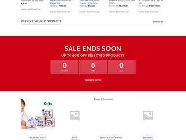 Another eCommerce site developement (balliatrend.com)