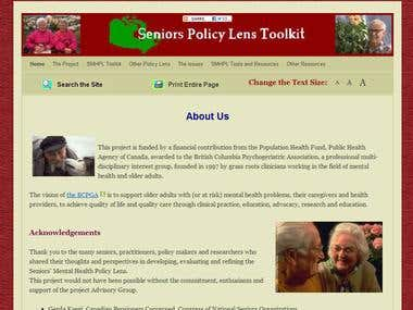 Seniors Policy Lens.ca