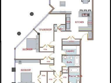 Residential plans design