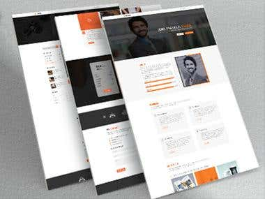 LEGEND- is a Creative Personal Portfolio PSD Template