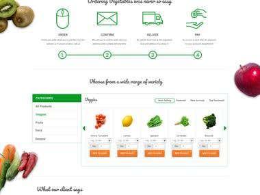 Vegetable e-commerce