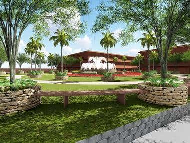 Landscape Design and 3D render