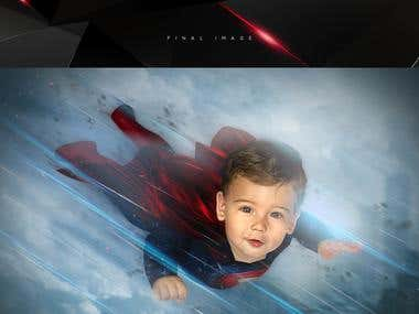 Photomanipulation Man of Steel Project