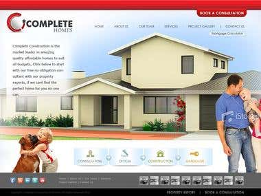Complete Homes webdesign