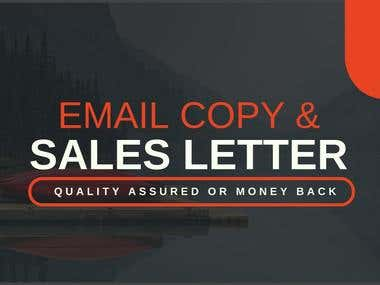 EMAIL COPY & SALES LETTERS