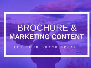 BROCHURE & MARKETING CONTENT