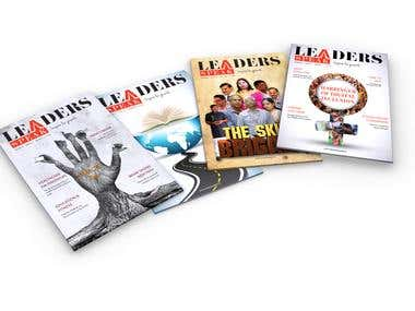MAGAZINE DESIGN PAGES AND COVER DESIGN