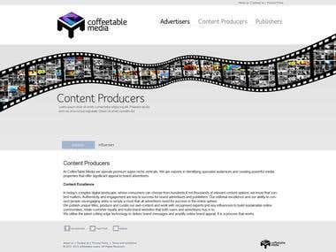 Website Design - client Coffeetable Media