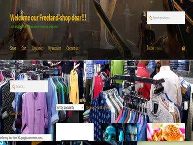 E-Commerce shop WEB