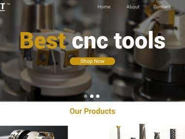 Cnc Tools shop website design