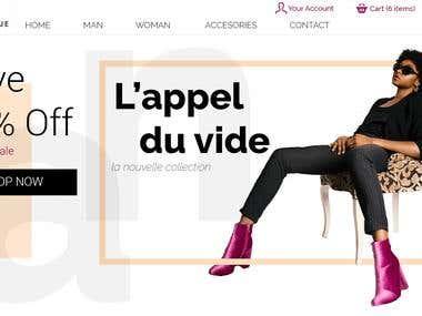 Online Fashion store website Design