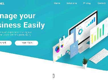 Landing page for admin managment system.