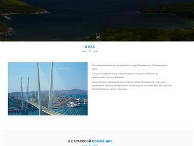 Belugatour - touristic agency website.