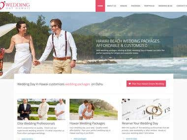 WordPress - https://www.weddingdayhawaii.com/