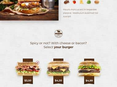 Burger/Food Website