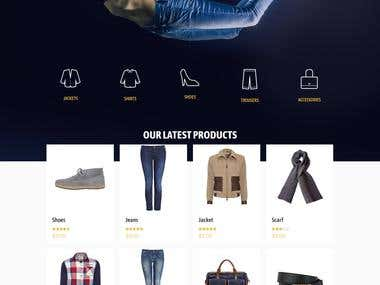 Denim Website With Be-THEME
