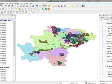 QGIS and ArcGIS data processing (python)