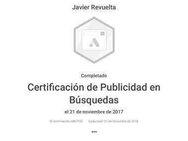 Certificado de Publicidad en Búsquedas