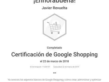 Certificación de Google Shopping