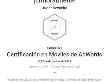 Certificación en Móviles de Google Ads