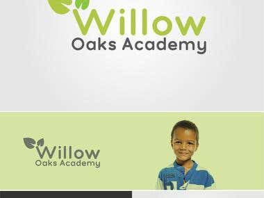 "Logo Design for ""Willow Oaks Academy""."