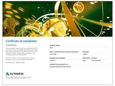 Autodesk / Autocad certification.