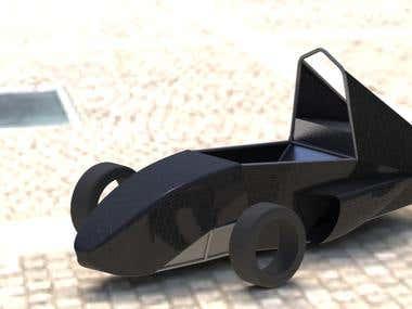 EV body modelling render (Sample #01)