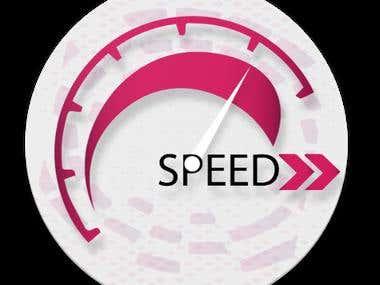Internet Speed Test App Logo Design