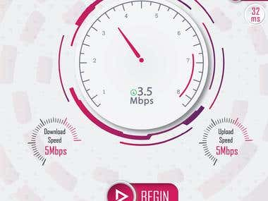 Internet Speed Test App Design