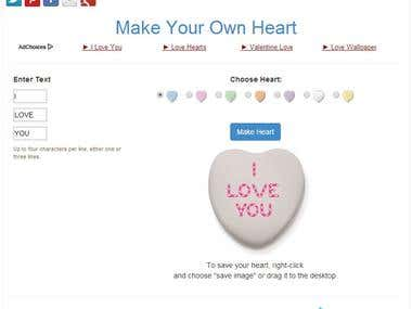 Responsive Candy Heart Generator