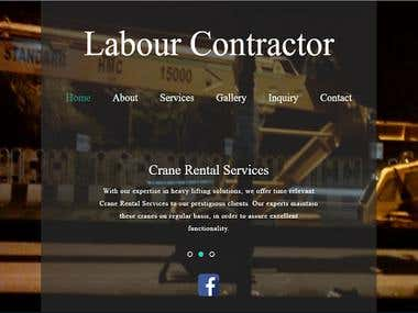 Bootstrap Website (Crane Labour Contractor Website)