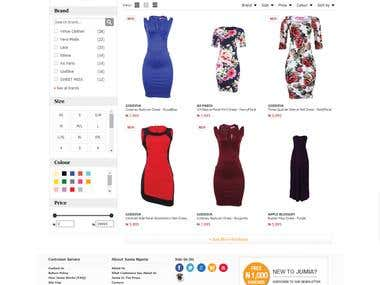 Project : Jumia (Online shopping website)