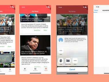 Flutter News Demo app