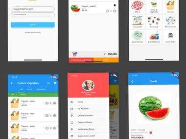 Grocery app (Flutter)