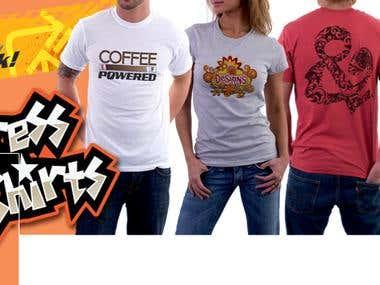 Facebook Cover for an Online Shirt Shop