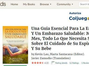 Book translated into Spanish