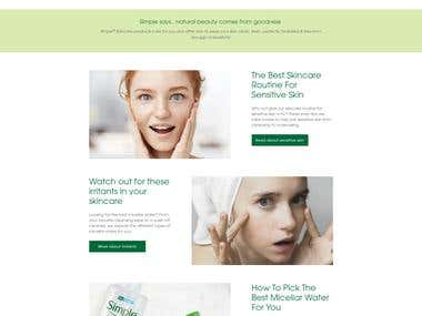 Skin Smooth Website