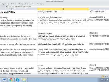 English to Arabic Translation .