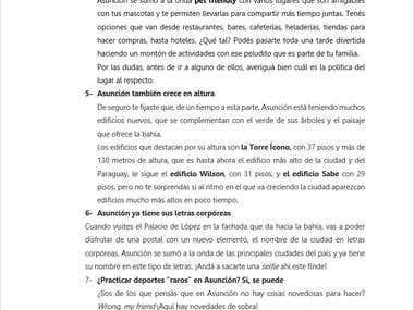 Artículo para blog:10 cosas que quizás no sabías de Asunción