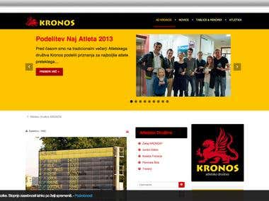 Website for a Track & Field Club - AD KRONOS
