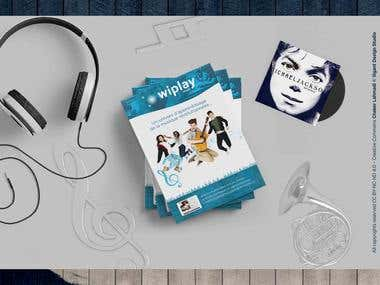 Plaquette pour Wiplay Music - Brochure Bifold