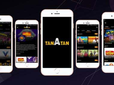 TANATAN Live streaming mobile app.