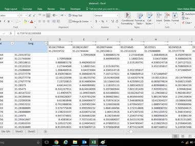 create VBA macro to calculate distance between hundreds of G