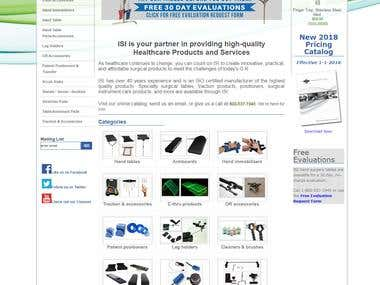 eCommerce Website For Surgical Instruments