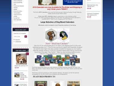 eCommerce website for Pet Photography Calendar