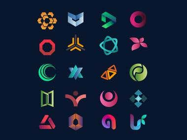 Flat minimal logo