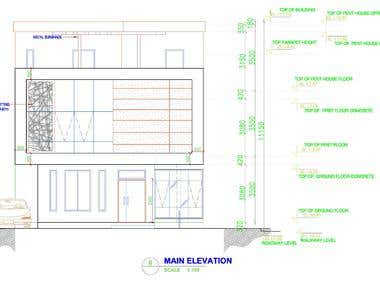 Arch_Elevation, Autocad