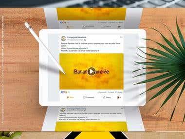 Banane flambée animation la compagnie bananière