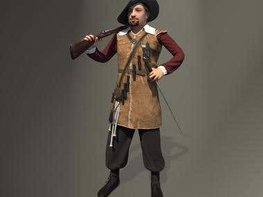 musketeer game model